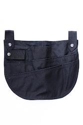Trädgårdsficka svart-bomull/polyester