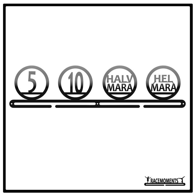 Olika distanser 5, 10, halv, hel