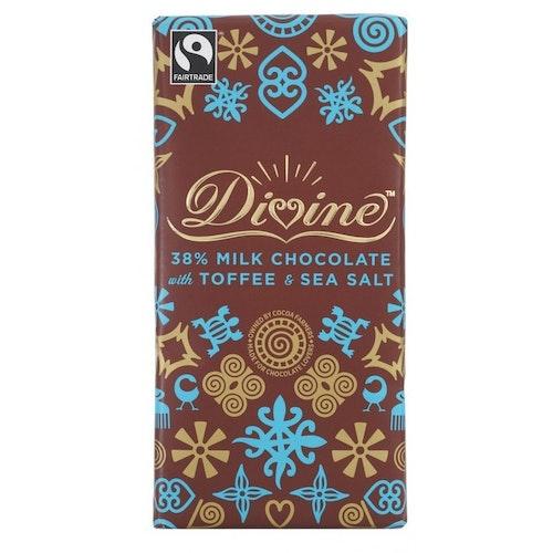 Divine mjölkchoklad, toffee and sea salt