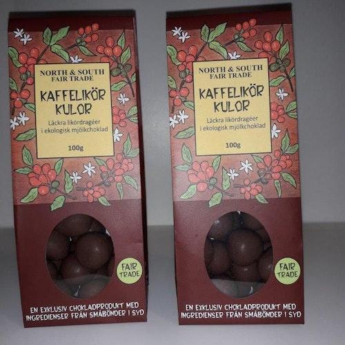 Choklad kaffelikörkulor