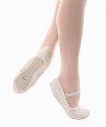 Tekniksko i skinn för balett, barnstorlek.