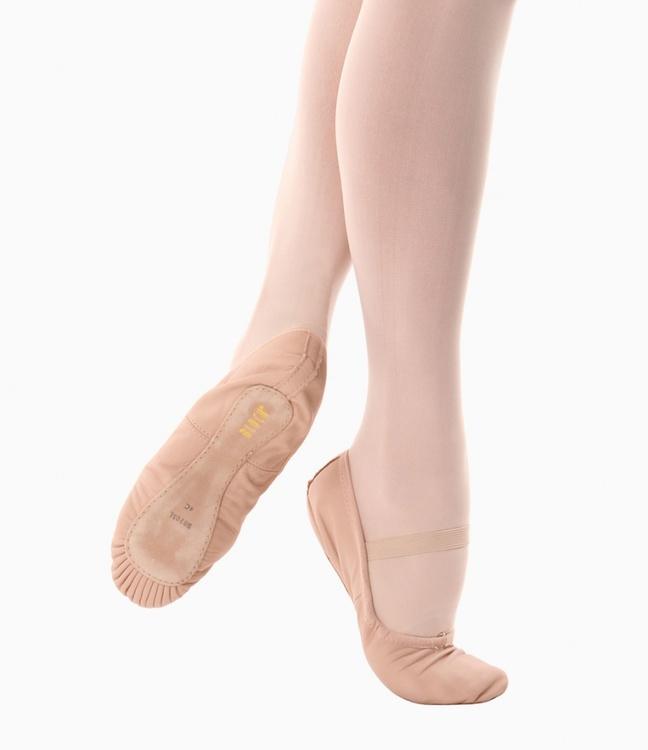 Tekniksko i skinn för balett, vuxenstorlek.