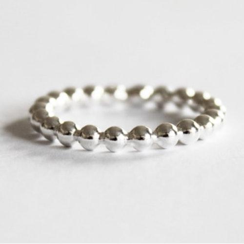 Kulring i silver, stor