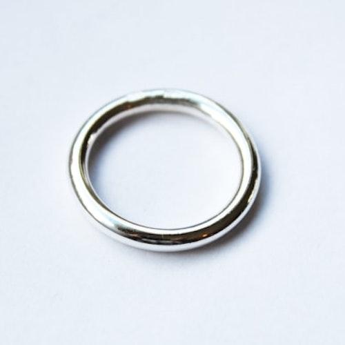 Slät silverring stor