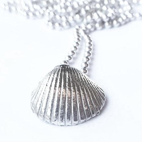 Halsband hjärtmussla i silver