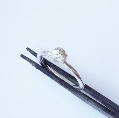 Silverring med silverpärla