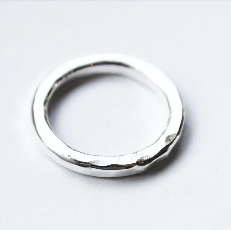 Hamrad silverring stor