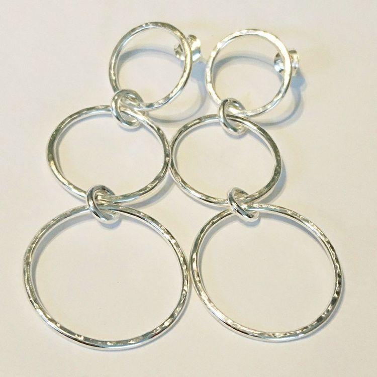 Örhängen med tre ringar