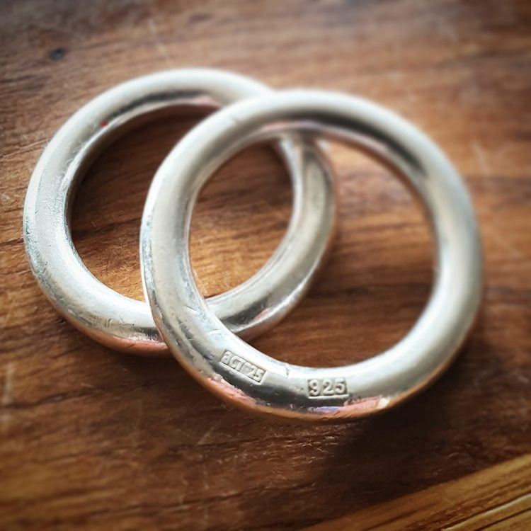 Slät silverring - x stor - chunky