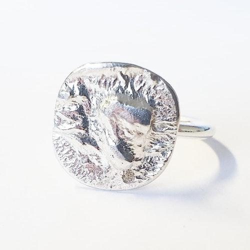 En unik silverring