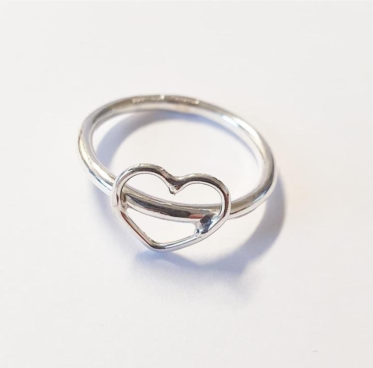 En hjärtansring i silver