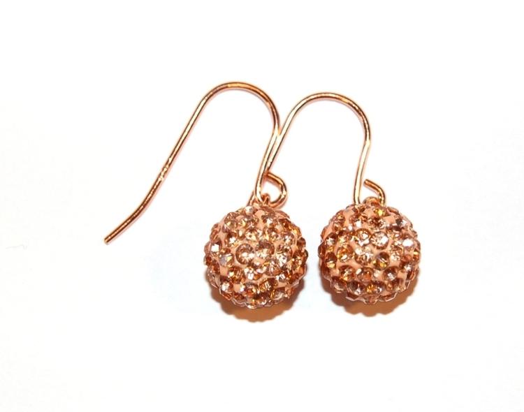 Smycken glittriga Rosefärgade örhängen