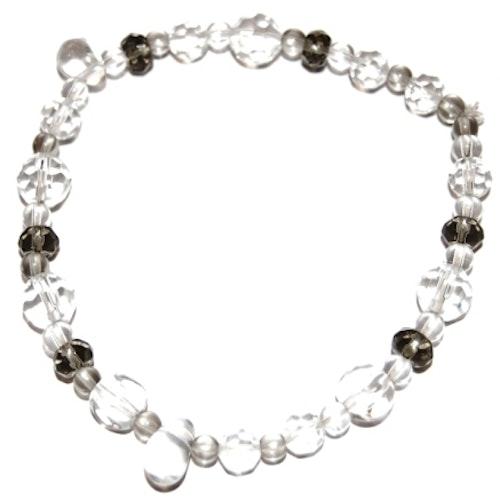 Smycken enkelt armband med glaspärlor.