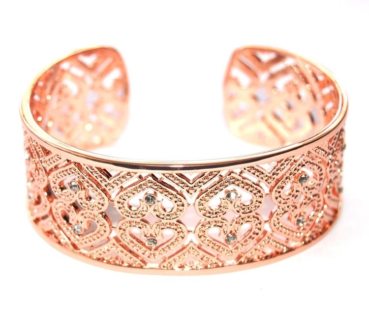 Smycken Bangle stelt armband, roséguld