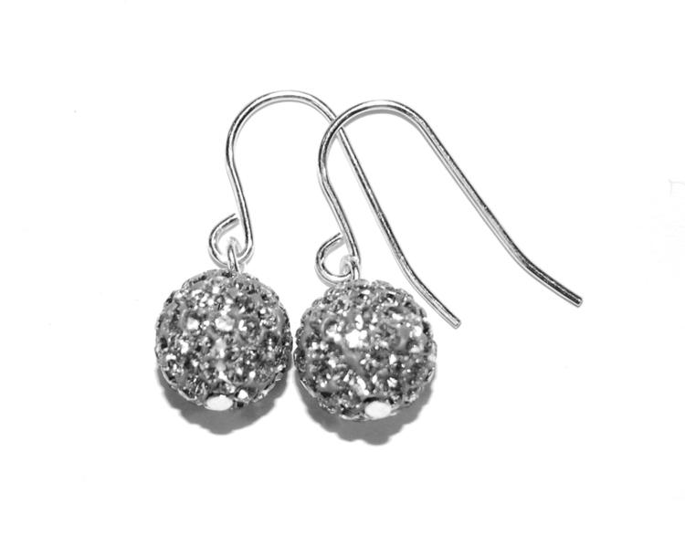 Smycken glittriga Örhängen på krok silver