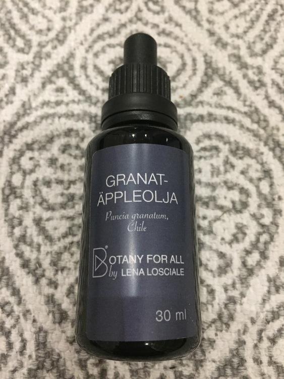 """Ansiktsolja Granatäpple """"Botany for all"""" Lena Losciale 30 ml"""