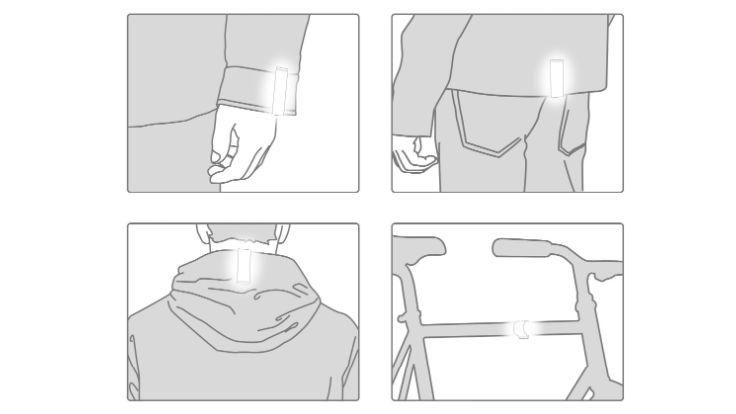 2-pack turkos reflex Clip-on magnet, Bookman
