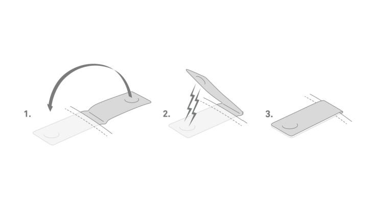 2-pack orange reflex Clip-on magnet, Bookman