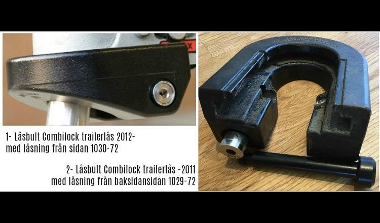Låsbult för CombiLock Trailerlås 2012 och senare