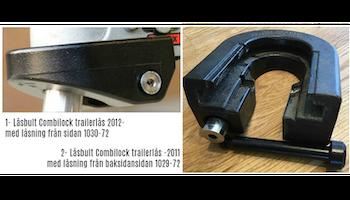 Låsbult för CombiLock Trailerlås, tidigare än 2011