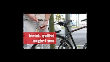 Interlock - integrerat cykellås - svart - 27.2cm diameter