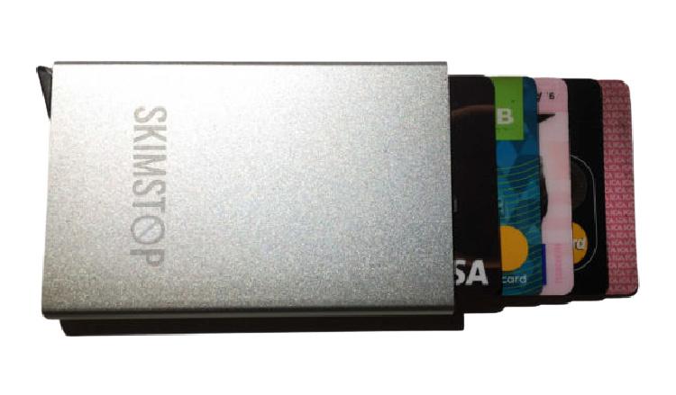 Plånbok aluminium mot skimming - Silver