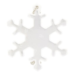 Reflex vit snöflinga