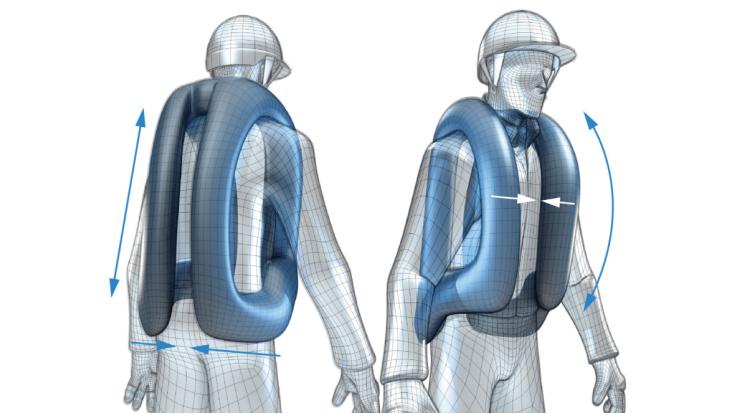HELITE Air Jacket säkerhetsväst, ridning airbag + extra patron
