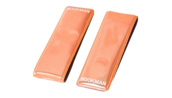 2-pack orange reflex Clip-on magnet, Bookman