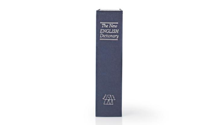 Kassaskåp / gömställe bok lexikon, stor