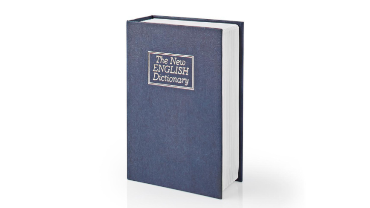 Kassaskåp / gömställe bok lexikon, liten