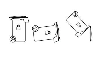 Lås till avfallskärl / soptunna, öppnas automatiskt vid tömning
