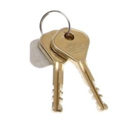 Combilock 2 st extra nycklar till släpvagnslås