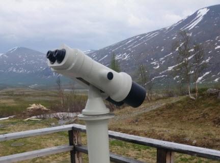 Vi har satt utsiktskikare på höga platser