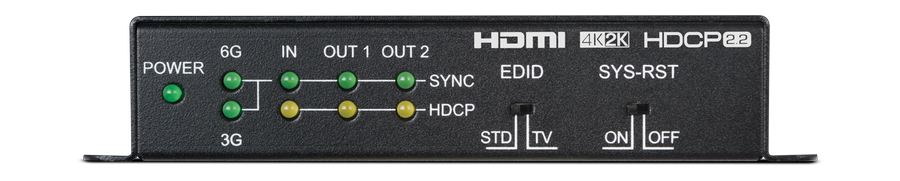 CYP/// HDMI splitter 1:2 med HDMI2.0, HDCP2.2 MkII Scaling