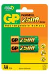 Gp Powerbank 2-pack AA/R6 2500mah