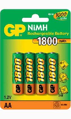 4-pack AA/R6 1800mAh