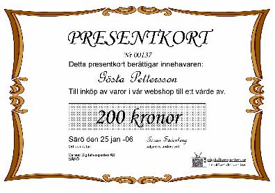 Digitaltvexperten Presentkort