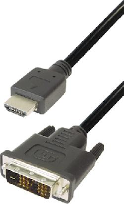 HDMI-DVI Std 1m19Hane-18+1Hane