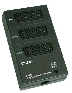Cypress T. SC-AMP 2 förstärkt Scart split 1-2