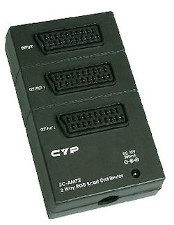 SC-AMP 2 förstärkt Scart split 1-2