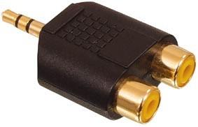 Digitaltvexperten 3,5mm hane - 2 st RCA gold