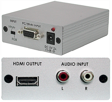 Cypress T. CP-261H VGA / komponent till HDMI