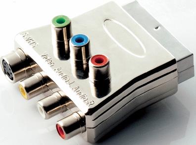 Nordic quality Scart-komponent adapter med ljud