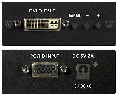 Cypress T. CP-252 VGA till DVI Scaler/Converter