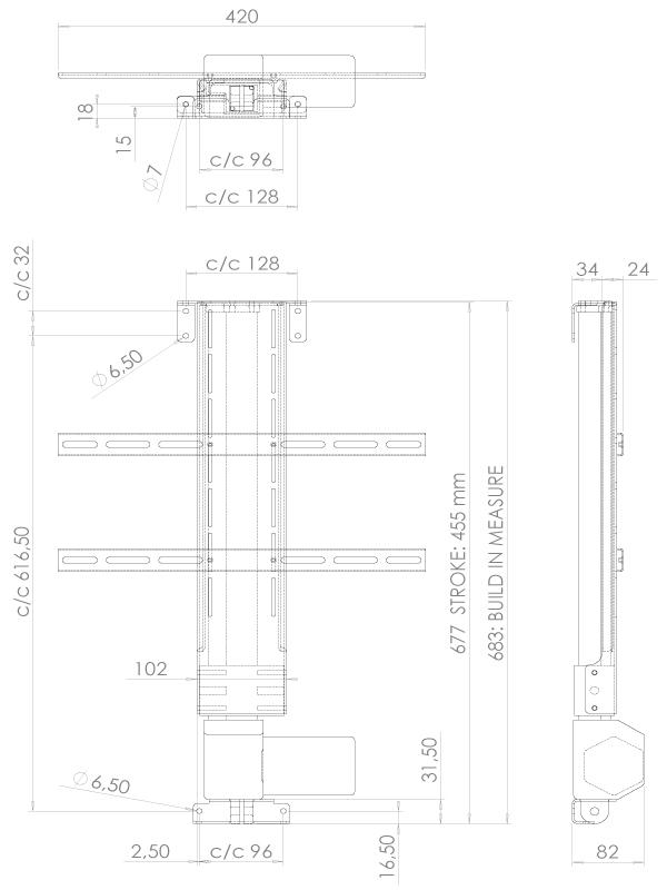 Lava LVE-6455 Tv - Lyft / Hiss 45cm
