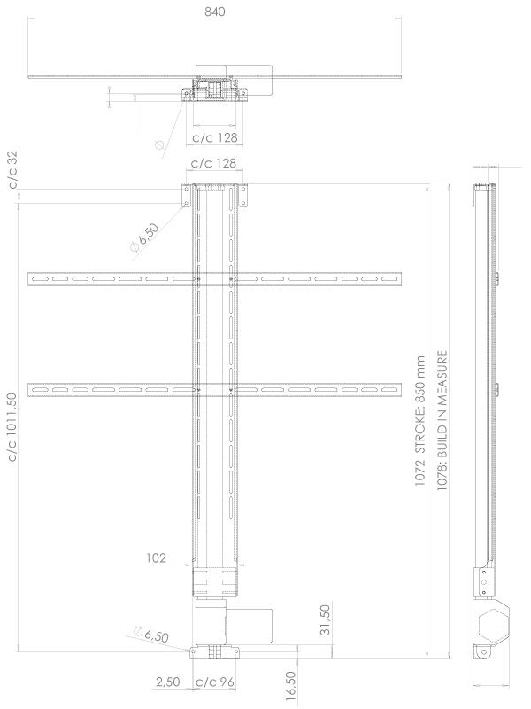 Lava LVE-6850 Tv - Lyft / Hiss 85cm