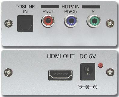 Cypress T. CP-280H komponent till HDMI / dig. ljud