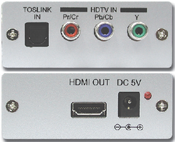 CP-280H komponent till HDMI / dig. ljud