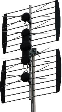 Digiality 4 dipols Gitter / grind antenn digitaltv UHF